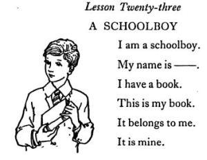 I am a schoolboy Faucett